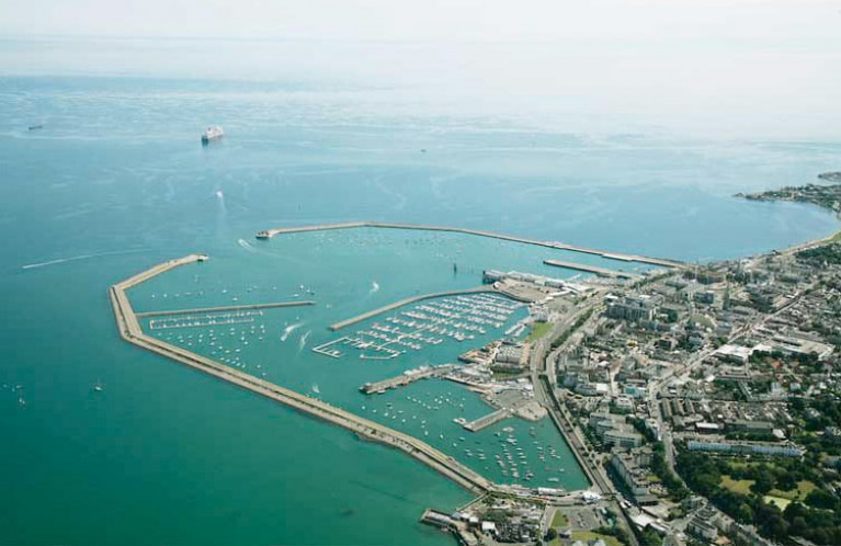 Dun Laoghaire Harbour is in the heart of the boating industry on the East Coast