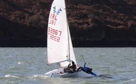 420 dinghy sailing at the Kinsale Yacht Club Frostbites Series