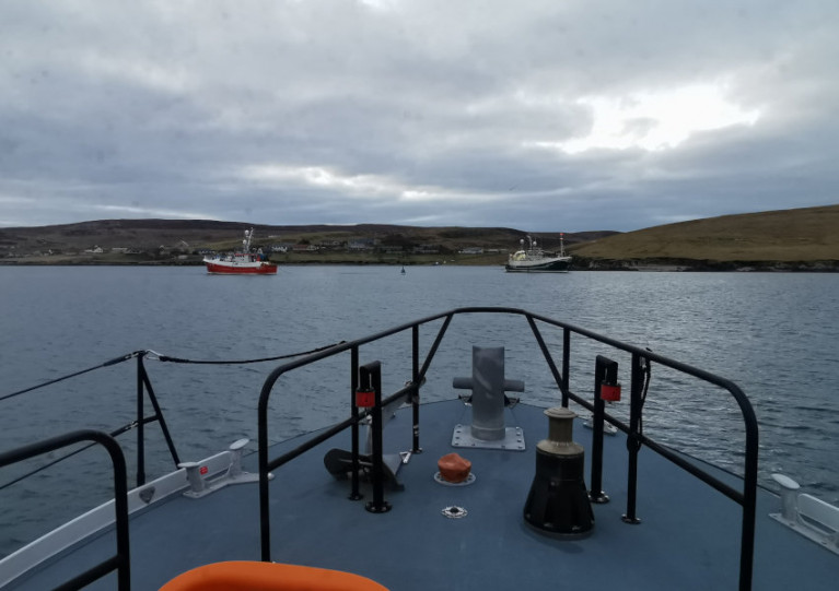 Shetland Fishing Boat Towed Off Rocks In Early Morning Rescue