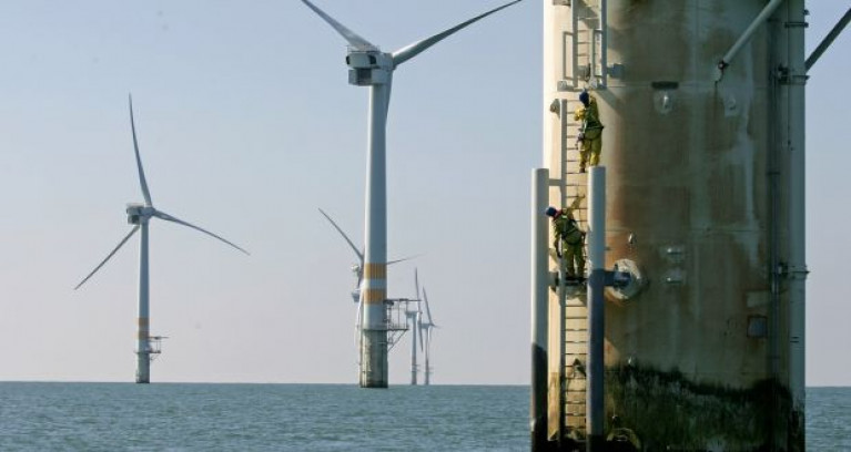 The wind farm on Arklow Bank in the Irish Sea: under the Government's Climate Action Plan, 70% of Ireland's electricity will be generated from renewable energy by 2030