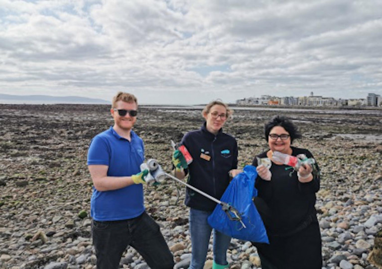 Lots of treasures and oddities found on Grattan Beach in Galway by Padraic Creedon and Anna Quinn of Galway Atlantaquaria with Cushla Dromgool-Regan of the Explorers Education Programme