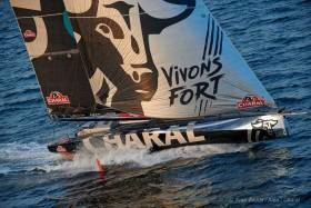 With the latest foiling technology, Jérémie Beyou's Charal (FRA) will be one of 29 IMOCA 60s competing in this year's Rolex Fastnet Race