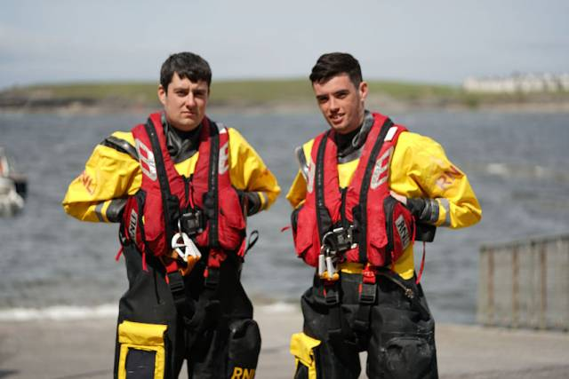 Oisin and Nathan Cassidy, whose father James is helm with Bundoran RNLI