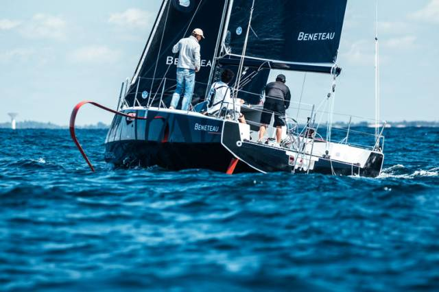 The new foiling Figaro 3 from Beneteau - up to 15 per cent faster than its predecessor thanks to foiling technology