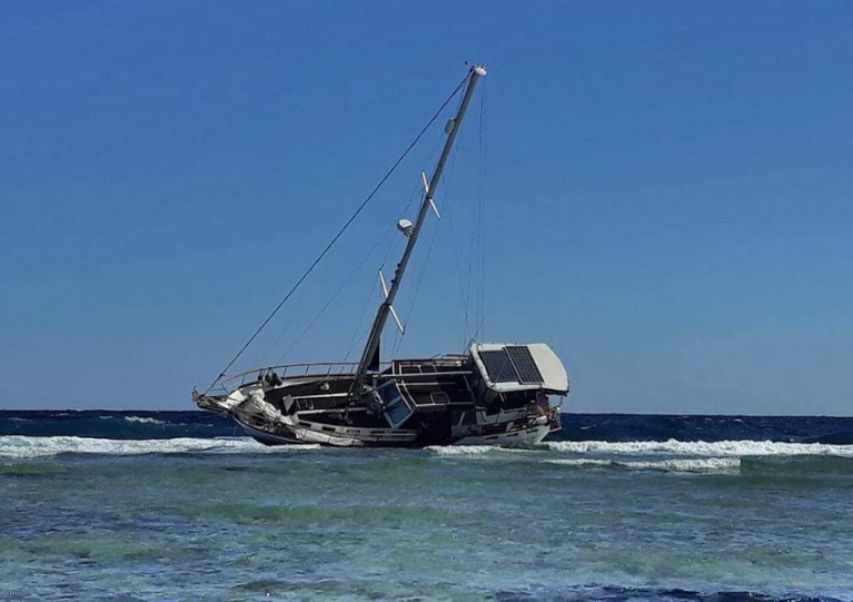 Colin Finnie's yacht Simba was found aground on a reef in the Red Sea in mid December