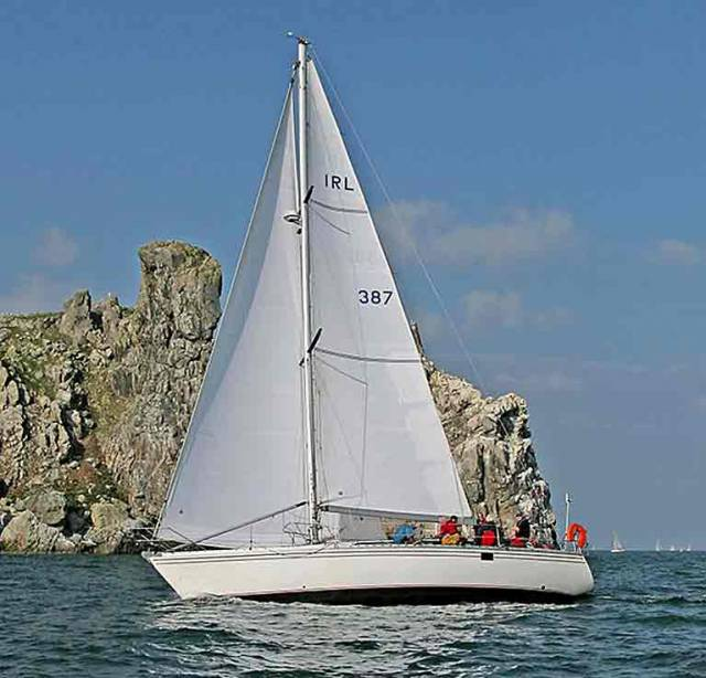 Winner on the day – Robert and Rose Michael's veteran Sun Fizz 40 Mystique of Malahide was declared overall winner on the day at Howth's annual Lambay Race last weekend