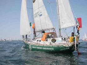 McGuckin starts the longest single sporting challenge on the planet – a non-stop sailing circumnavigation on a 36ft yacht