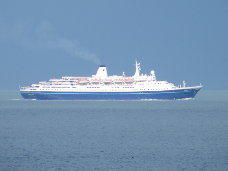 "A ""body blow"" for British cruisers as Cruise & Maritime Voyages (CMV) falls into administration. AFLOAT's photo in Dublin Bay of CMV's first cruiseship, Marco Polo entered service for the UK based operator a decade ago using regional ports throughout Britain as embarkation locations. The much admired veteran vessel with an elegant profile began as a Soviet era cruise-liner, proved popular with British clientele offering domestic cruises and overseas, but was also a familar sight calling to Belfast, Dublin and Cork (Cobh) in recent years. In addition running Festive Season and New Year mini-cruises from the UK calling to Dublin and Cobh.  Afloat also featured Marco Polo on a the North Sea Hull-Harwich mini-cruise (see: Cruise Liners -2018) Another fleetmate Magellan in more recent times 'homeported' out of the Irish capital and Cobh for the domestic market."