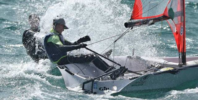 Great conditions on Dublin Bay for the 29er national championships at the Royal St. George Yacht Club