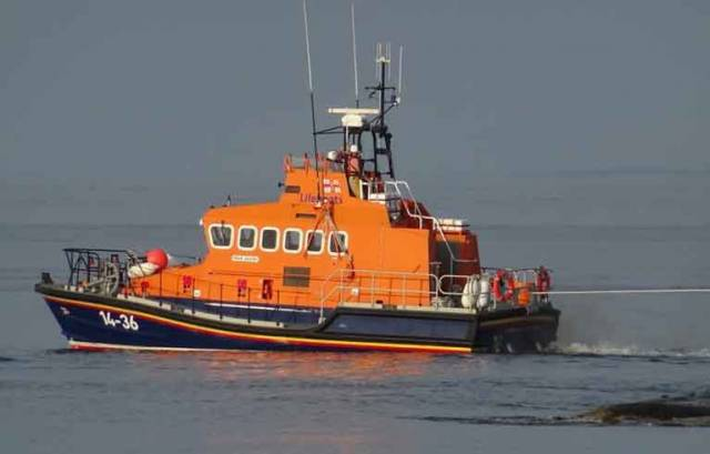 Donaghadee RNLI's all-weather lifeboat Saxon was on scene to the fishing vessel within five minutes