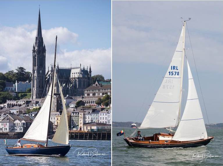Bob Bateman's photos capture two little classics with a shared spirit in his images of Pinkeen and Sunflower on Cork Harbour
