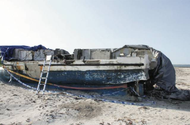 The hull of the FV Aisling Patrick washed ashore in western Scotland on 28 May 2018, from the MCIB report