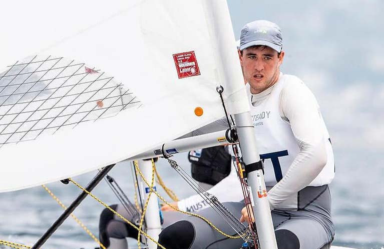 2016 Laser rep Finn Lynch is one of three Irish sailors seeking the final Olympic berth in Genoa in April