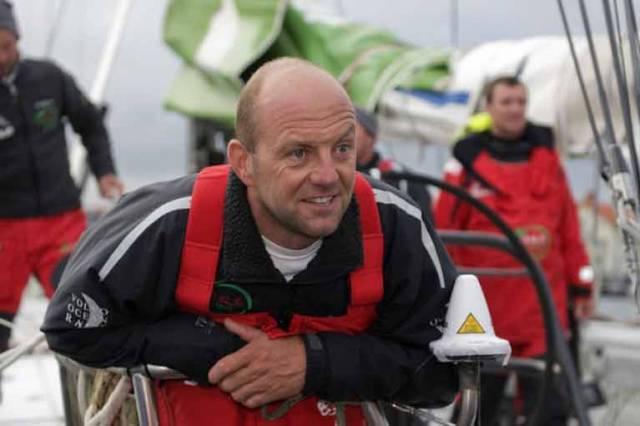 Ian Walker onboard Green Dragon in the 2009 Volvo Ocean Race