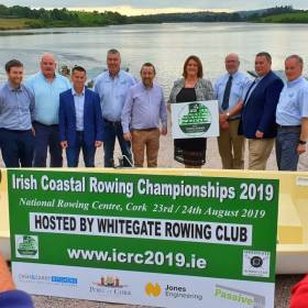 The Coastal Rowing Championship Committee at the launch of the event
