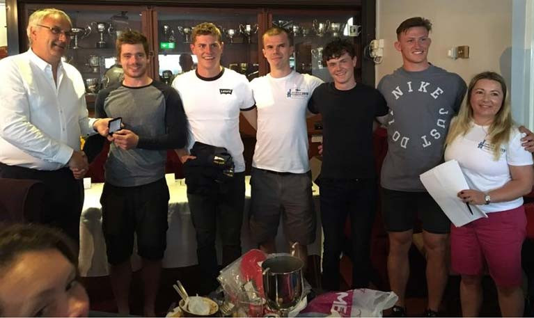 Tadhg O'Loingsigh and the crew of Janx Spirit – Reigning U25 Irish J/24 Champions