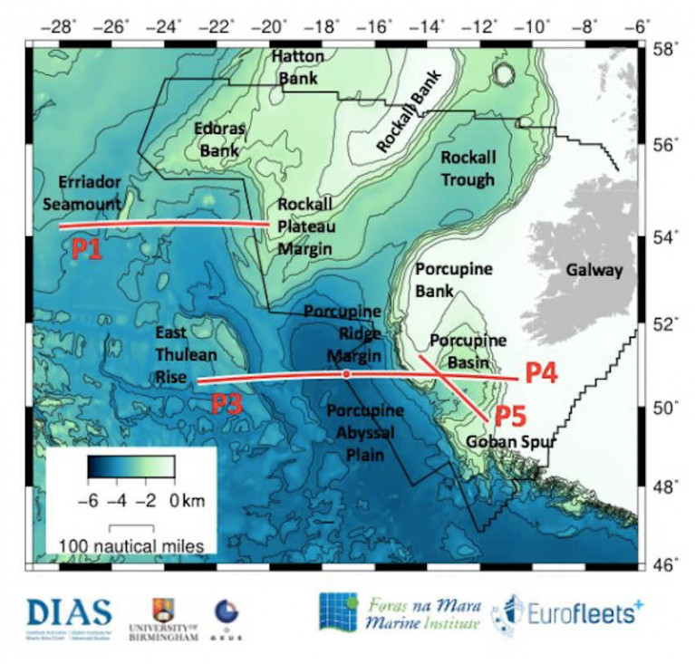 Map for the PORO-CLIM survey to take place from 5-30 May