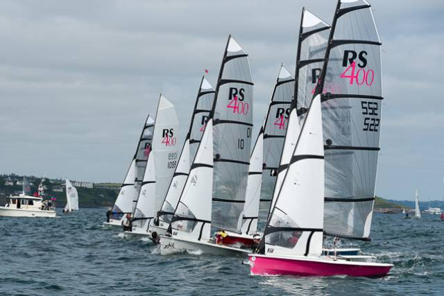 An RS400 start at Dinghy Fest. Scroll down for Day Three Gallery including prizegiving By Bob Bateman
