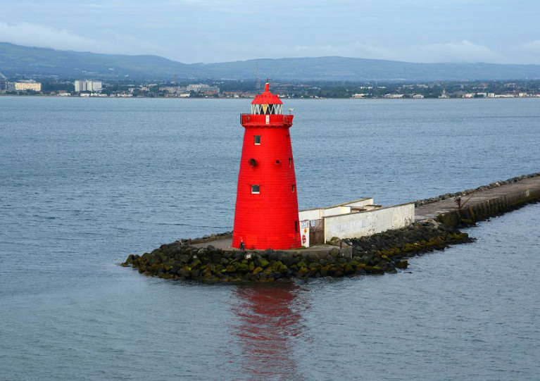 File image of Poolbeg Lighthouse at the end of the Great South Wall