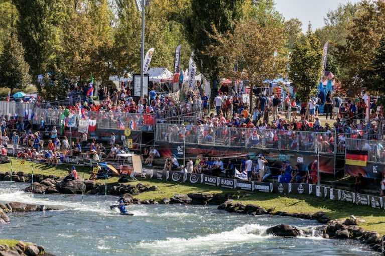 The Whitewater Stadium of Pau-Pyrenees has become the place to be for the world canoeing elite