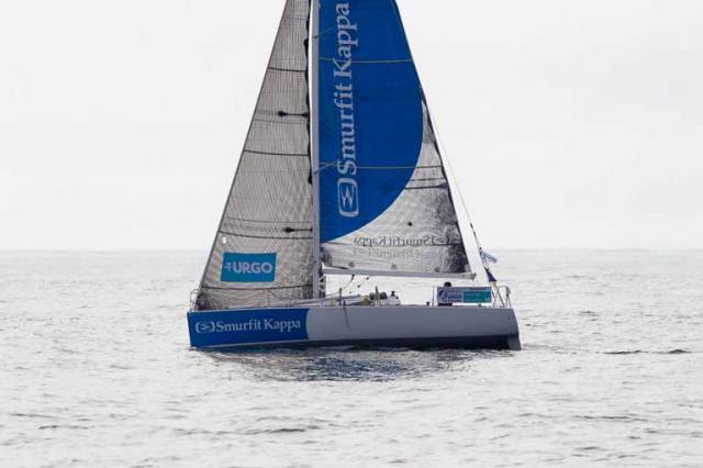 Tom Dolan has achieved a clear win in the First Timers section in the 410-mile Stage 3 of Solitaire URGO Le Figaro, taking eleventh overall just 15 minutes behind the leader after 3 days and 16 hours of racing
