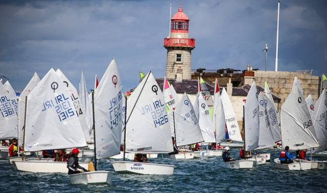 Juniors compete in DBSC's popular Sepetmber Series in Dun Laoghaire Harbour