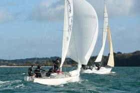 In cruiser racing out of RCYC, just two classes will sail under spinnakers