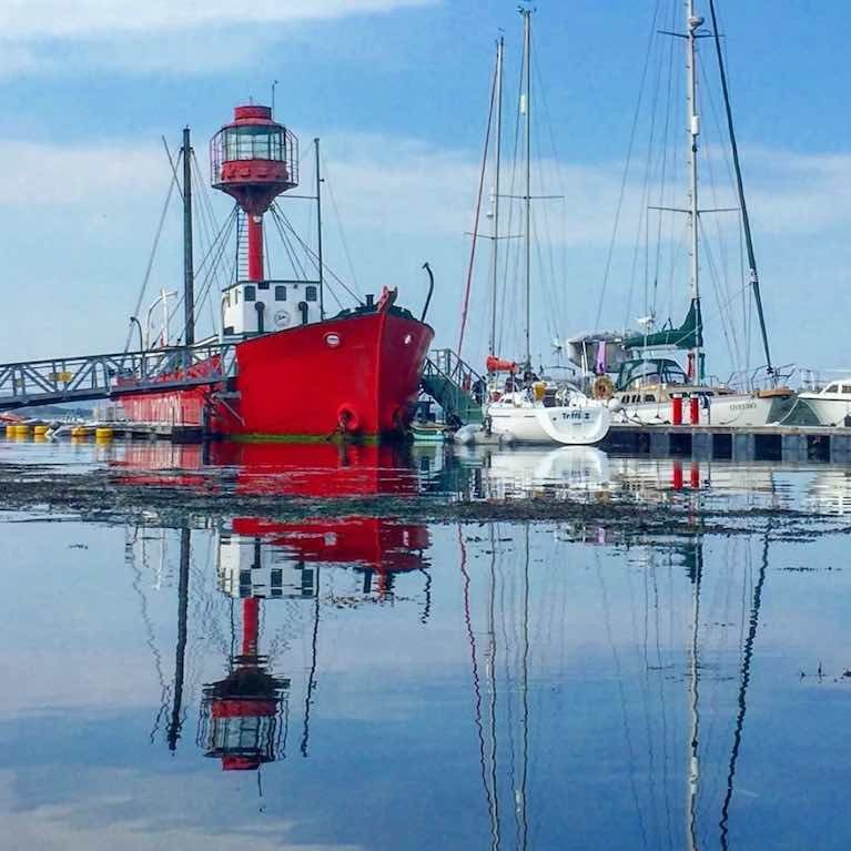Down Cruising Club occupies an unusual clubhouse, the old Lightship, Petrel