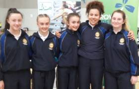 Girls from Presentation, Terenure at the blitz.