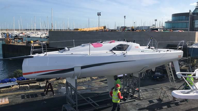 The new Sun Fast 3300 during commissioning at MGM Boats in Dun Laoghaire Harbour