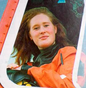 Dara Fitzpatrick as pictured in Afloat in June 1994 - then a 22-year-old helicopter co-pilot with four years of flying experience already under her belt