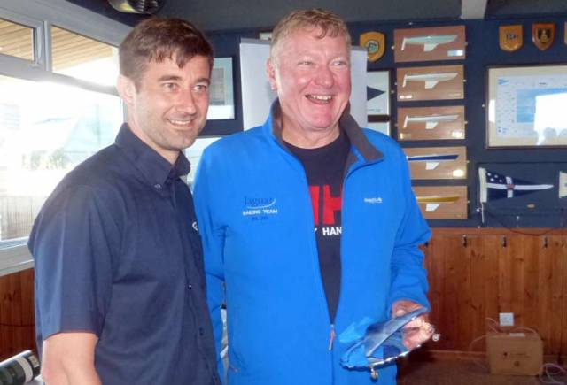 Jaguar skipper Martin Byrne (right) - race two winner at the 2019 Edinburgh Cup
