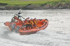 Bangor RNLI's lifeboat in action