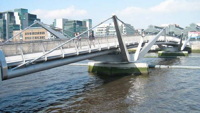 The Sean O'Casey footbridge will have a rare opening this Saturday afternoon for a loop of the Liffey by the Three Bridges Rally