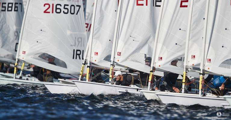 Liam Glynn (IRL 216507) in today's gold fleet racing