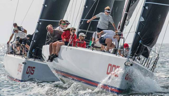 Anthony O'Leary's Royal Cork Yacht Club in action in the new County Wicklow designed IC37