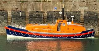 The Watson 47 lifeboat The Robert, heroine of the 1979 Fastnet Storm, as she is today - restored by Jeff Houlgrave