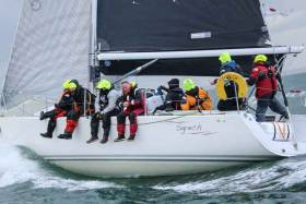Welsh offshore champion Stephen Tudor in J109 Sgrech is one of a handful of boats still expected to enter the 2017 D2D race to bring a total entry to 45 boats. See comment from Stephen Tudor below.