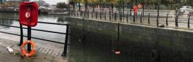 Ring buoy vandalism in Dublin's docklands