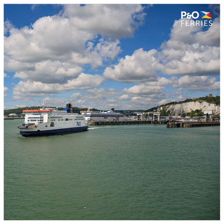 The P&O Ferries chief brought in to spearhead the Brexit process has stepped down. Above Afloat identified the Pride of Canterbury of the 'Darwin' class departing the Port of Dover where berthed behind a 'Spirit' class ferry at the port in Kent, the UK busiest's ferryport.