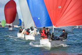 1720 sportsboats broke through to take the lead in today's first race of the RCYC O'Leary Insurance Winter League. Scroll down for photo gallery