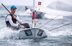 Howth Yacht Club's Ewan McMahon competing in Japan
