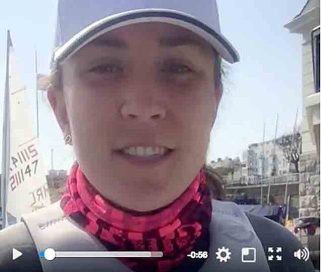 Annalise Murphy's typical training day in the video below