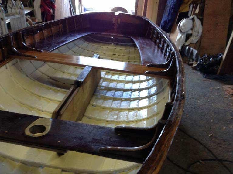 Caubeen, which won the Dinghy World Championships for Ireland in 1924, is being renovated for the Athlone event