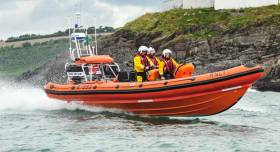 The RNLI Lifeboat at Crosshaven in County Cork