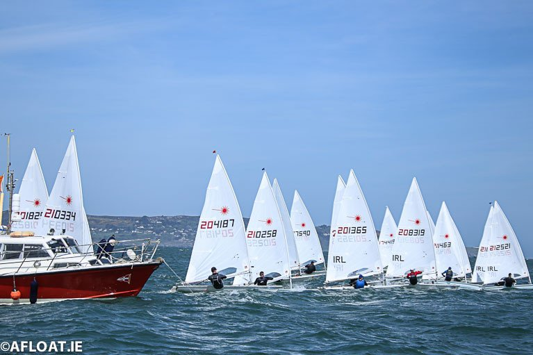 Laser Masters racing on Dublin Bay