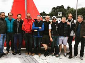 Some of the sailors who gathered for Blackrock Sailing Club's inaugural sail on the River Lee