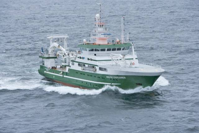 The RV Celtic Explorer, one of the State's two dedicated marine research vessels
