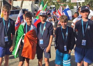 Team Ireland in Antigua ahead of the competition