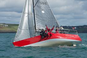 Kinsale Quarter Tonner 'Runaway Bus' enjoying the great sailing conditions for today's April league at Kinsale Yacht Club. Scroll down for a gallery of photos